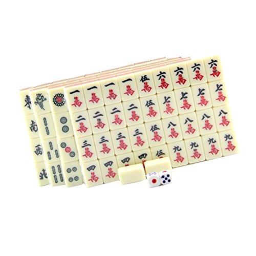 MagiDeal Chinese Mahjong Mahjongg Mah Jongg Mah-Jongg Majiang Travel Board Tile Game Set by MagiDeal