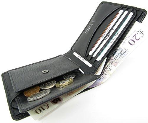 RFID Wallet Croc Leather Fraud Fold Bi Brown Moc Real Visconti Black Blocking Anti 6w5YqxUR0