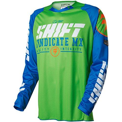 2016 Shift Strike Jersey-Blue/Green-XL Blue Strike Jerseys