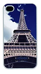 eiffel bottom view Custom iPhone 4s/4 Case Cover Polycarbonate White by runtopwell