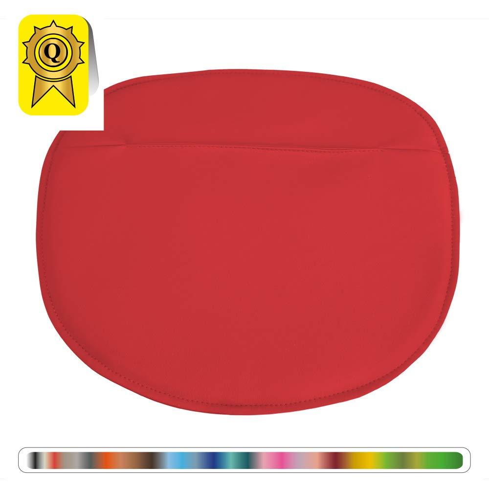Orange DP-galetteS-OR-1A Simili Cuir Coloris Decopresto 1 x Coussin Galette Adapt/é Chaise Style Scandinave Mati/ère