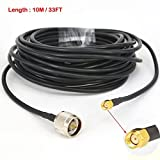 YOTENKO Low Loss WiFi Cable N Male to RP SMA Male Connector RG58 Pigtail Cable 10M