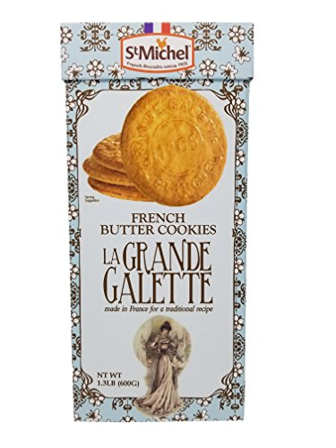 St Michel French Butter Cookies La Grande Galette from France 1.3 LB (Le Chef Patissier Grande Galette French Butter Cookies)