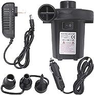 12V Electric Air Pump Quick-Fill AC 110V Portable Air Pump for Inflatable Air Bed Mattress Inflator Deflator w