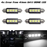 98 silverado dome light cover - Partsam 4 x Car Dome 5050 SMD LED Canbus Bulb Light Interior Festoon led 42MM White For 2007-2013 Ford Fusion