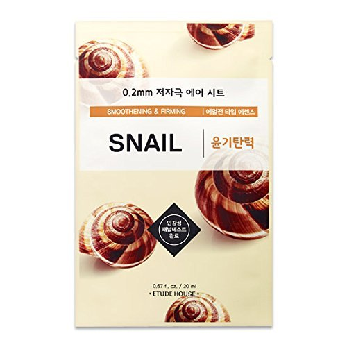 Etude House 0.2 Therapy AIR Mask SNAIL 30pc Set Smoothening & Firming Korean Mask