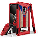 Galaxy S9 Plus/Galaxy S9+ Case, Trishield Durable Shockproof High Impact Rugged Armor Phone Cover with Kickstand for Samsung S9+ Only Printed Puerto Rico Flag
