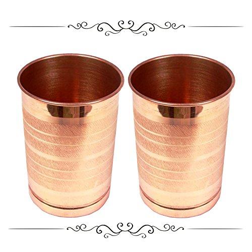 Style Homez Pure Copper Glass Tumbler Drinkware Serv