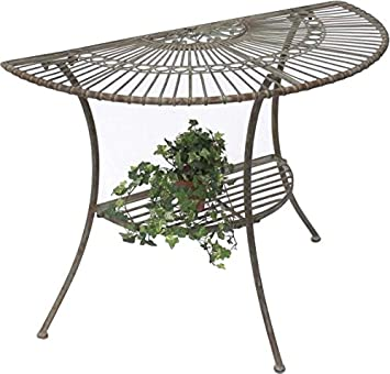 Dandibo Tisch Halbrund Wandtisch Malega 100531 Beistelltisch Aus