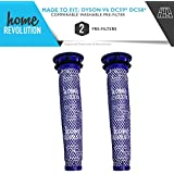Dyson Part # 965661-01 for V6, DC-58 and DC-59 Models, Comparable Washable Pre-Filter. A Home Revolution Brand Quality Aftermarket Replacement 2PK