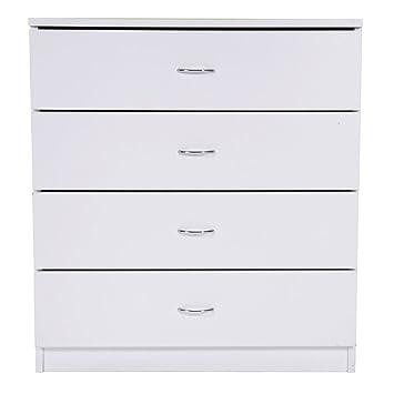 Amazon.com: Dressers, Chest, MDF Wood Simple 4-Drawer ...