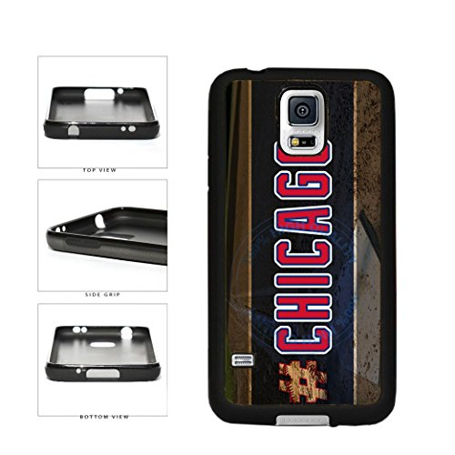 (BleuReign(TM) Hashtag Chicago #Chicago Blue and Red Baseball Team TPU RUBBER SILICONE Phone Case Back Cover For Samsung Galaxy S5 )