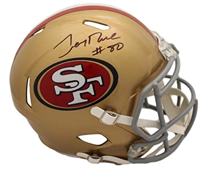 4206187dc Image Unavailable. Image not available for. Color  Jerry Rice Autographed Signed  San Francisco 49ers Speed Replica Helmet BAS