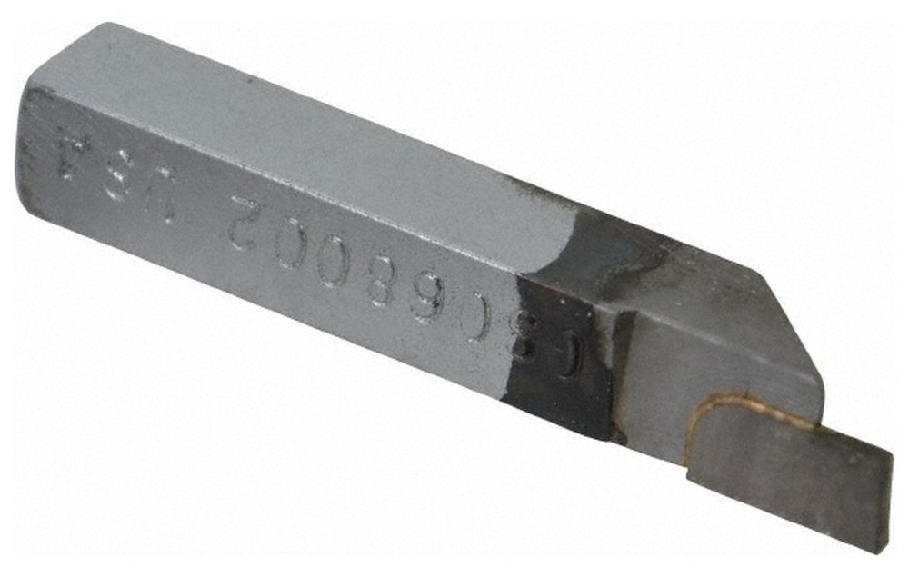 0.068 Inch Groove Width 0.21 Inch Depth Of Cut 3//8 x 3//8 Inch Shank Cutoff and Grooving Single Point Tool Bit GS-068002 Grade Micrograin