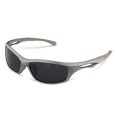 DUCO TR90 Polarisierte Sport-Sonnenbrille zum Laufen, Radfahren, Angeln, Golfen, bruchfester Rahmen 6199 Gr. Einheitsgröße, gunmetal
