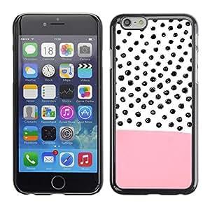 TopCaseStore / la caja del caucho duro de la cubierta de protección de la piel - Pink Pattern Hand Drawn - Apple iPhone 6