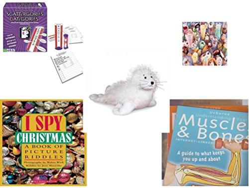 [Children's Fun & Educational Gift Bundle - Ages 6-12 [5 Piece] - Includes: Game - Toy - Plush - Hardcover Book - Paperback Book - No.] (Things That Start With The Letter O)
