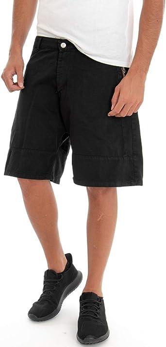 Giosal - Pantalones Cortos para Hombre, de algodón, Color Negro ...