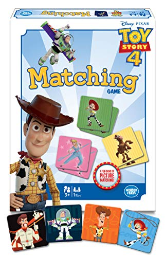 Wonder Forge Disney Toy Story 4 Matching Game for Boys & Girls Age 3 & Up - A Fun & Fast Memory Game You Can Play Over & Over]()