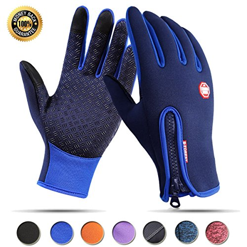 Achiou Touch Screen Winter Gloves for Winter Warm iPhone iPad Bicycling Cycling Driving Anti-Slip Gloves Running Climbing Skiing Outdoor Sports for Men Women