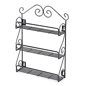 Ezoware especiero estante de cocina con 3 niveles para - Botes almacenaje cocina ...