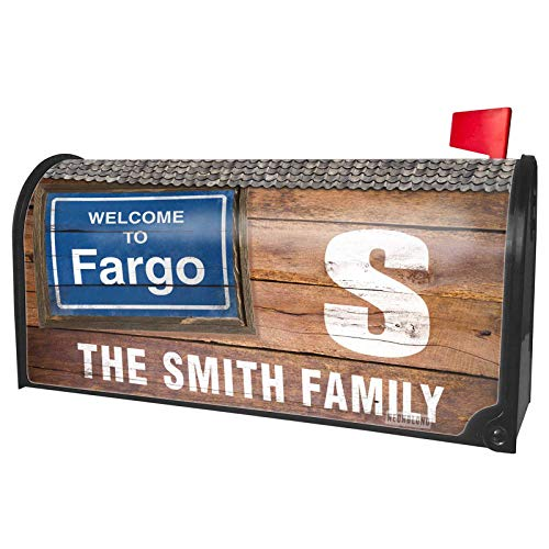 NEONBLOND Custom Mailbox Cover Sign Welcome to Fargo]()