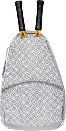Tennis Racket Backpack - Women's Tennis Racquet Holder Bag by LISH (Grey)
