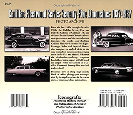 1937-1987 Cadillac Fleetwood 75 Limousine Photo Archive Limo Picture History