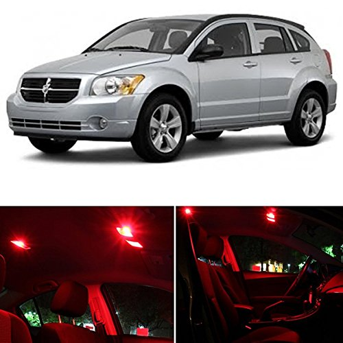 liber 2007-2012 RED Premium LED Interior Lights Package Kit (6 Pieces) ()