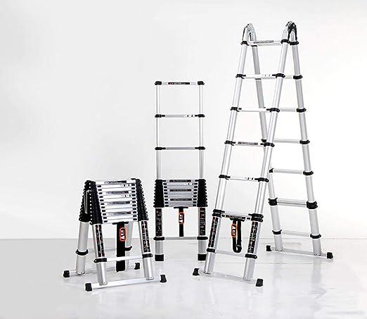 Escalera de extensión plegable portátil,Escalera telescópica ...