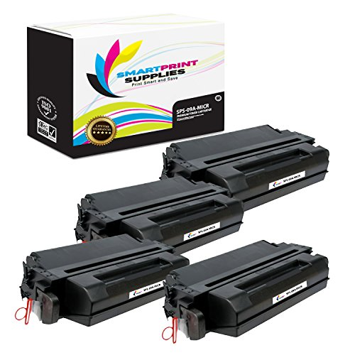 Smart Print Supplies Compatible 09A C3909A MICR Black Toner Cartridge Replacement for HP Laserjet 5si, 5si MX, Optra N, 8000 Series Printers (15,000 Pages) - 4 Pack