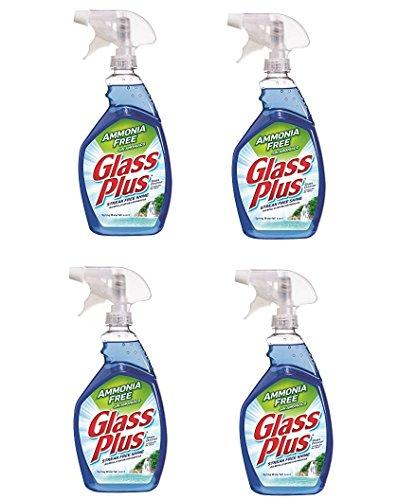 Glass Plus Glass Cleaner, 32 fl oz Bottle, Multi-Surface Glass Cleaner (32 Oz Glass Plus Cleaner)