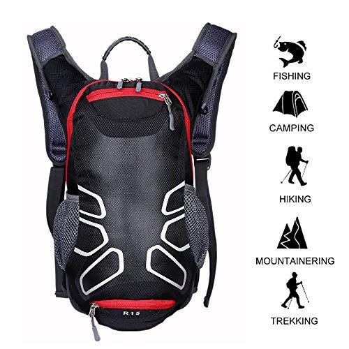 15L waterproof riding helmet backpack Black - 1