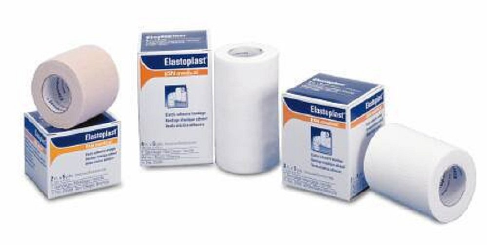 Tensoplast - Elastic Adhesive Bandage Tensoplast - 2 Inch X 5 Yard Medium Compression No Closure NonSterile - 36/Case - McK
