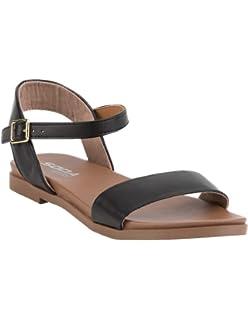 e1185e1c4490 SODA Comfy Meadow Black Sandals