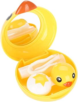 Estuche para Lentes de Contacto - Delaman Cute Mini Cartoon Duck ...