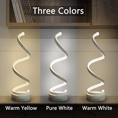 tools, home improvement, lighting, ceiling fans, lamps, shades,  table lamps 2 discount Makion Spiral LED Table Lamp, Curved LED Desk promotion