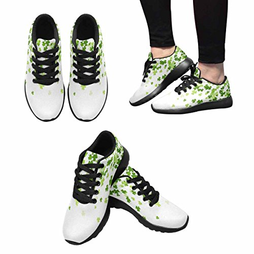 InterestPrint Womens Trail Running Shoes Jogging Lightweight Sports Walking Athletic Sneakers Clover Multi 1 cypGv9V