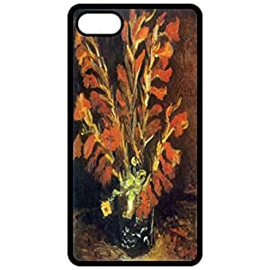 Red Gladioli Painting By Vincent Van Gogh Black Apple Iphone 6 (4.7 Inch) Cell Phone Case - Cover