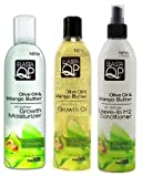 Cheap Elasta QP Olive Oil & Mango Butter Trio Set (Growth Moisturizer, Growth Oil, Leave-In H2 Conditioner)