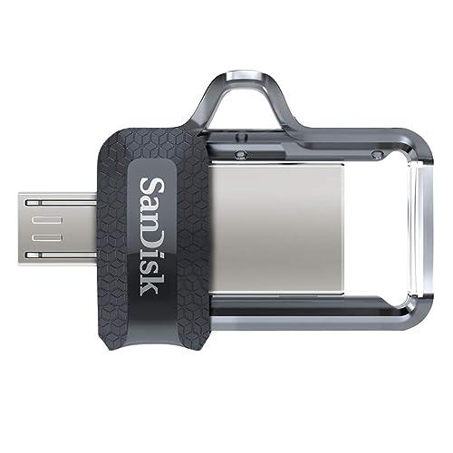 SanDisk Ultra Dual m3 0 Memoria Flash USB de 128 GB con USB 3 0 y hasta 150 MB s