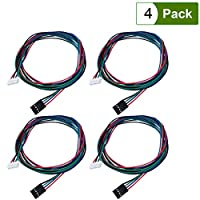 UEETEK 4 Pcs Bipolar Stepper Motor Cables 100 cm Long for NEMA 17 used in Reprap 3D Printers CNC Machines from UEETEK