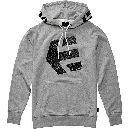 Etnies Men's Hype Hooded Fleece, Grey/Heather, XL (Etnies Mens Sweatshirt)