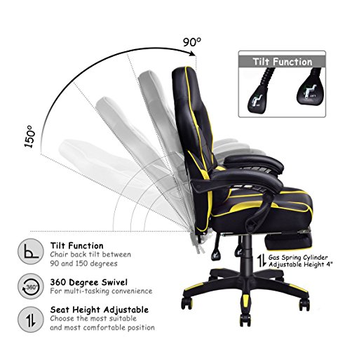 51jk5sdUVdL - Giantex-Gaming-Chair-Racing-Chair-Ergonomic-High-Back-with-Footrest-and-Lumbar-Support-Adjusting-Swivel-Executive-Office-Chair