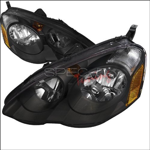 Spec-D Tuning 2LH-RSX02JM-RS Acura Rsx Jdm Black Dc5 Oem Diamond Head Lights Lamps