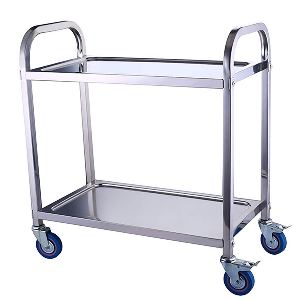 Amazon.com - Stainless Steel Rolling Cart Ultra-Thin Storage ...