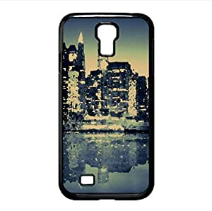 Blue City Watercolor style Cover Samsung Galaxy S4 I9500 Case