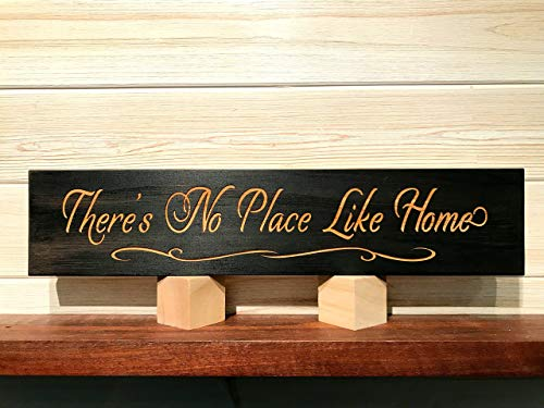 There's No Place Like Home Wall Plaque Laser Engraved Personalized Custom Sign 163 by SignsByAllSeasons