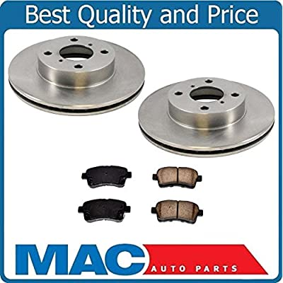 100% All New Front Brake Rotors & Ceramic Pads for 02-05 Suzuki Aerio: Automotive