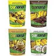 Barnana Organic Chewy Banana Bites - Variety Pack, 3.5 Ounce (4 Count) - Healthy Vegetarian Banana Fruit Snacks - Made with Sustainable, Eco Friendly Upcycled Bananas